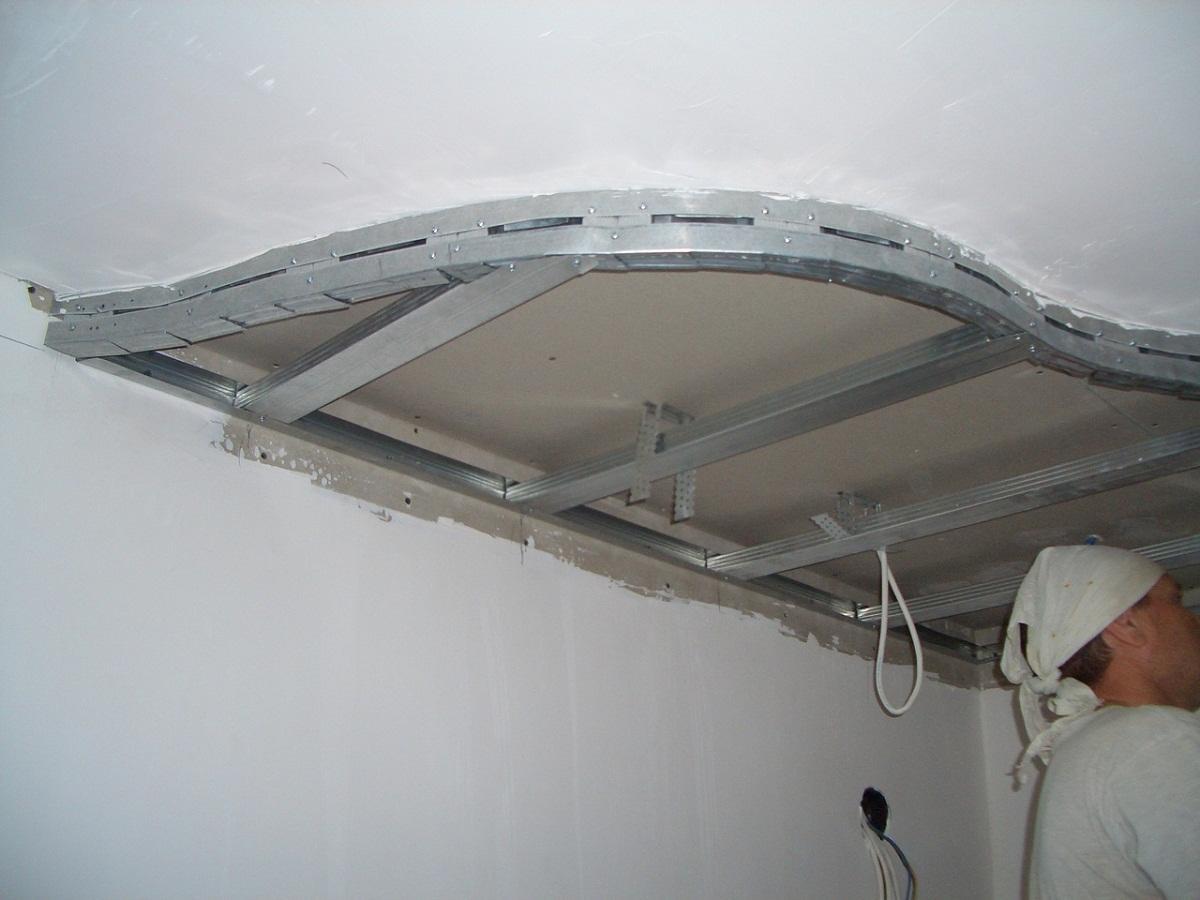 двухуровневые потолки из гкл своими руками